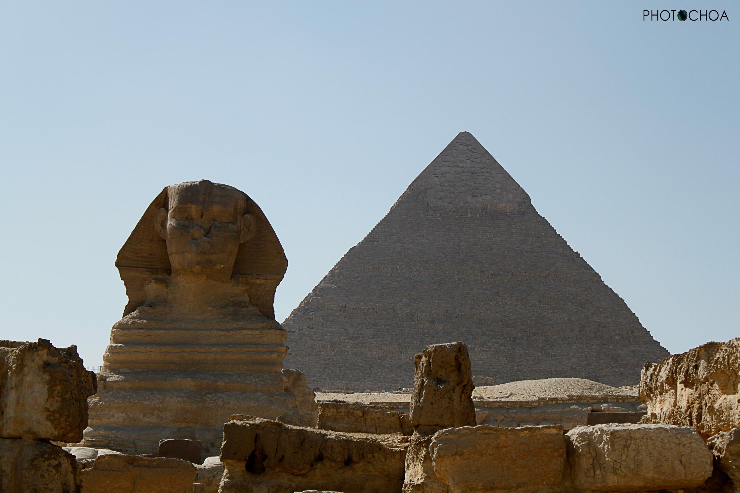 La Gran Esfinge y la Pirámide Keops.