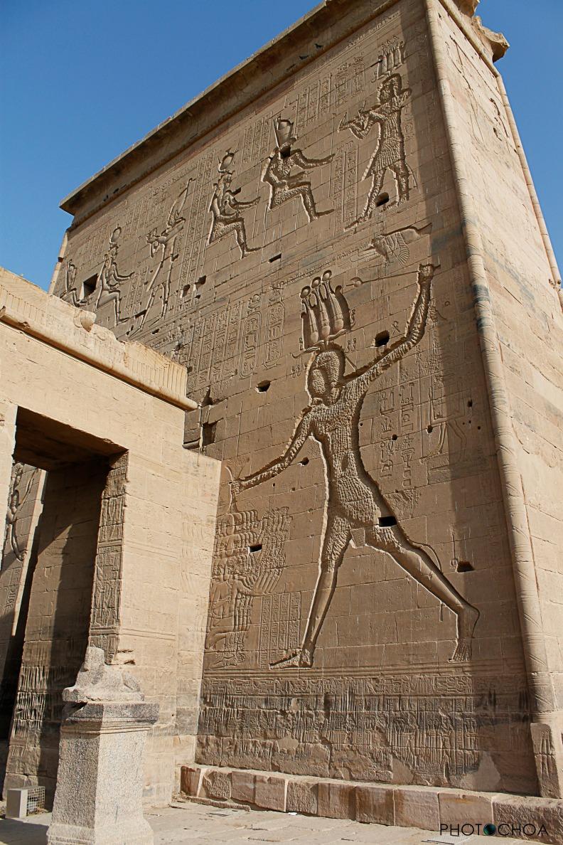Detalle de la fachada del Templo de Philae